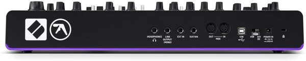 Novation AFX Monosynth rear inputs and outputs